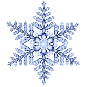 Engineered snowflake with a near-perfect 6-fold symmetry.