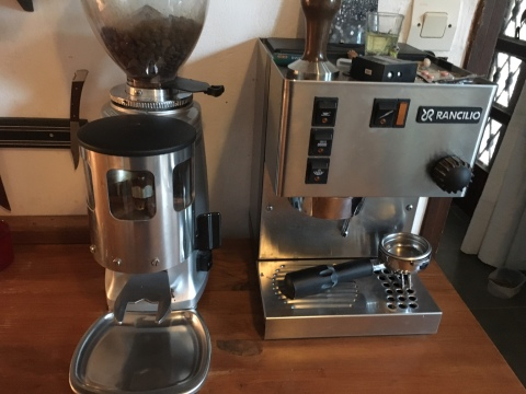My coffee rig at home